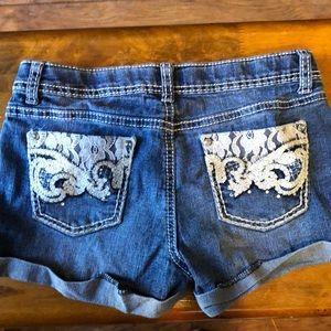 Girls so 14 denim shorts